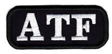 ATF enforcement applique patch alcohol tobbacco firearms patch iron/sew on