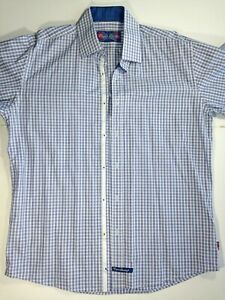 Men's English Laundry Blue Shirt Flip Cuffs NEW WITHOUT TAGS 16.5 - 34/35 (L)