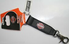 Harley Davidson keychain holder badge clip key ring Motorcycle bike HD Leather 1