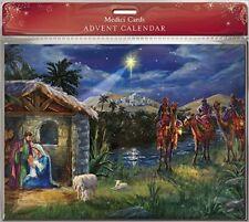 Traditional Bethlehem Nativity Advent Calendar - 24 Doors Christmas Countdown