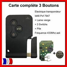 Carte clé Télécommande électronique Pour Renault Mégane2 Scénic2 clio 3 3 BOUTON