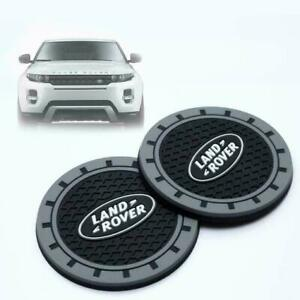 2pcs Silicone Car Logo Auto Cup Bottle Holder Pad Coaster Mat fit Land Rover