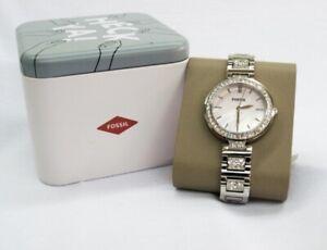 Fossil Karli Three Hand Pink Dial Stainless Steel Watch BQ3182