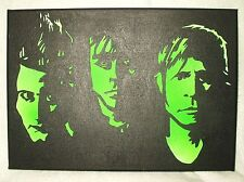 Canvas Painting Green Day B&W Art 14x10 inch Acrylic
