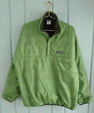 Patagonia Snap T Sherpa Pullover Jacket Mens Large Reversible Lined Green Deep