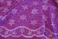 Pink & Silver Lace Flounce Fabric 8mts  136cm Wide Scallop Both Sides