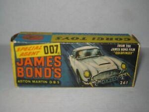 10 X Corgi 261 James Bond's Aston DB5 1st Issue Empty Inner /& Outer Repro Box