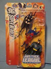 JUSTICE LEAGUE UNLIMITED THREE PACK HUNTRESS THE ATOM BATMAN! NM!