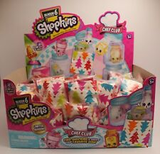 Shopkins Season 6 - 5 x Surprise Bags - New - sealed in Christmas themed bags!