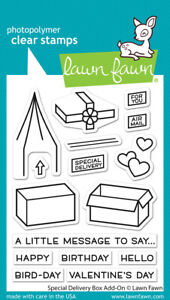 Lawn Fawn Clear Photopolymer Stamps - Special Delivery Box Add-On lf2468