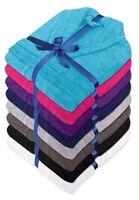 Unisex Luxury 100% Cotton Terry Towelling Bath Robe Dressing Gown Towel Bathrobe