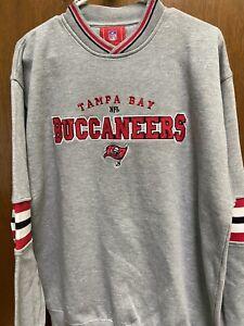 Tampa Bay Buccaneers NFL V-Neck Men's Grey Sweat Shirt Size X- Large