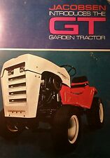 Jacobsen GT 10 12 14 Lawn Garden Tractor Color Sales Brochure 12p Chief Ford LGT