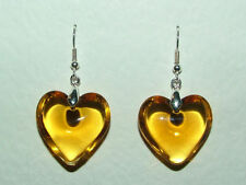 Unbranded Heart Glass Silver Plated Costume Earrings