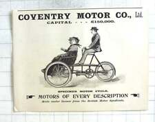 1897 Specimen Motorcycle Of The Coventry Motor Company