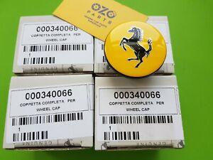 4x Genuine Ferrari wheel center caps 000340066