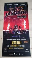 BLACK SABBATH THE END OF THE END  Locandina Cinema 33x70 Poster Film Originale