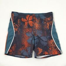 NIKE Swim Trunks Men Size 40 Modern Floral Mesh Lined Shorts Swimsuit Zip Pocket