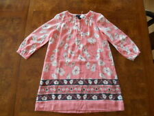 NWT Gap Girls Coral Floral Dress Spring Summer Easter  Small 6/7 R $54.99