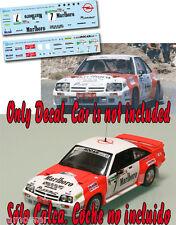 Decal 1:43 Carlos Alonso Lamberti - OPEL MANTA 400 - Rally El Corte Ingles 1986