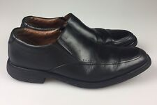 Clarks 1825 Unstructured Black Leather Loafers Comfort Shoes 7005