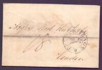 Vorphilabrief Bremen 1825 mit großem Schlüsselstempel nach London (369)