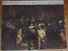 100 of the World's Most Beautiful Paintings Very Good Condition   1966