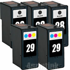 5 Pk 28 29 Remanufactured Ink Combo Fits Lexmark Z845 Z1300 Z1310 Z1320 Printer