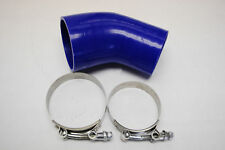 """elbow Silicone hose 45 degree 3"""" to 2.5"""" reducer 2 1/2 COUPLER + 2 T Bolt clamp"""