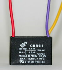 CEILING FAN CAPACITOR CBB61 1.5uf+2.5uf 3 WIRE