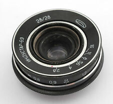 INDUSTAR-69 2.8/28 Russian Soviet Wide Angle Pancake Lens M39