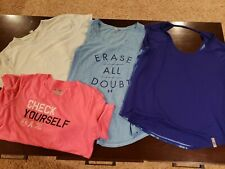 Lot of 4 Under Armour Women's Tee T-Shirt Size M workout gym exercise lot tank