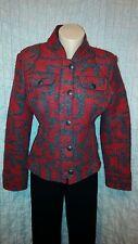 Frieda and Freddies boiled red/grey wool jacket blazer size 38