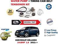 Pour Chevrolet Orlando 1.8 2011> Eau Pompe + Tendeur Courroie Distribution Kit