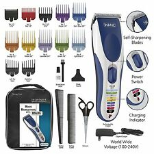 Wahl Color Pro Cordless Rechargeable Hair Clipper, 21 piece Color Coded Hair