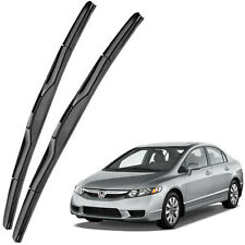 Genuine OEM Front Windshield Wiper Blades For 2008-2015 Honda Civic Sedan 4 Door