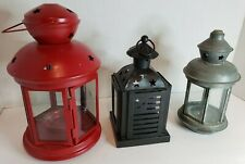 Lot of 3 different styles Lantern Lamp Candleholder wedding table centerpiece