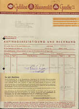 BERLIN N 65, Rechnung 1936, Goldina - Hauswaldt - Gaedke G.m.b.H.