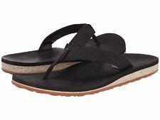 cf1fcd54aa2e NEW  Teva SANDAL FLIP FLOP SHOE Leather 9.5 10 Mens CLASSIC BLACK  70 Retail