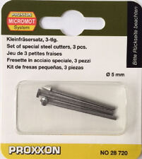 Proxxon 3 x high speed steel cutters milling 28720 / Direct from RDGTools