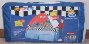 Kids NASCAR Twin Size BED DOME / TENT Hide 'n Sleep NEW