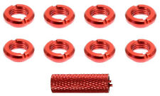 Apex RC Products Red Aluminum JR Radio Switch Nuts #1728