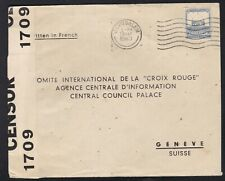 PALESTINE 1940 WWII Very Scarce  Cover to Red Cross Read Description