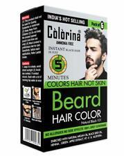 Men's Beard Color in 5 Minutes,Natural Black 101 (10ml X 12 Sachet) Ammonia Free