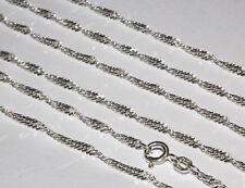 Echte 925 Silber Singapur Kette Sterlingsilber Hals Massiv Unisex  Silberkette