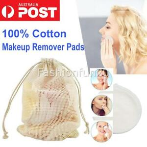 8/16/20pcs Reusable Bamboo Cotton Make Up Remover Pads Skin Cleansing Soft Pad