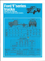 FORD F SERIES F500 SPECIFICATIONS BROCHURE 04/70