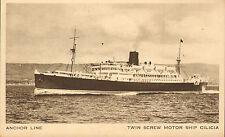 twin screw motor ship cilicia - anchor line