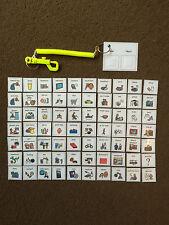 PECS/Boardmaker Now/Next Key Ring & 70 Cards for autism/ASD/ADHD/SEN/Aspergers