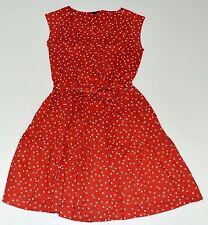 Gap Kids 12 Dress Americana Summer Red White Star Print Sash Girls kk1